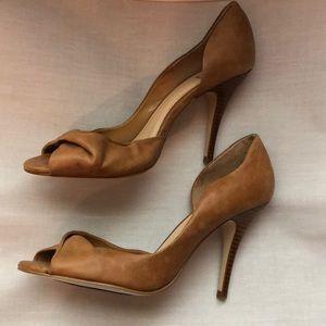 Bakers Shoes - Bakers Brown Cognac Sandal High Heels